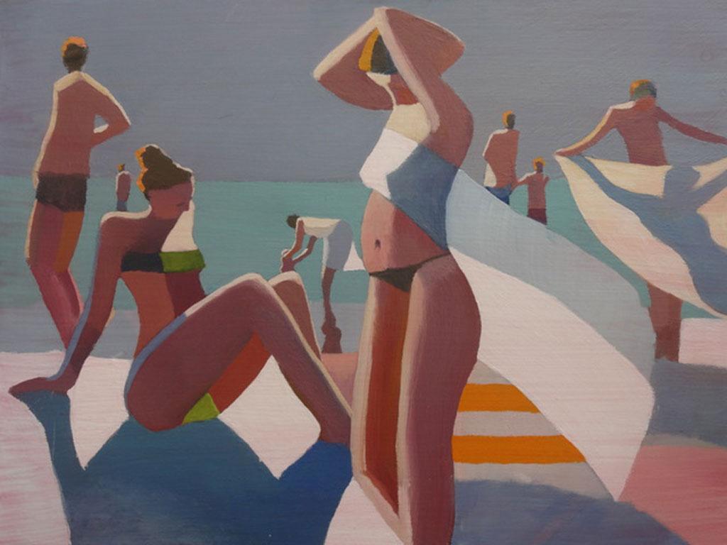 Cubist Beach White Triangle
