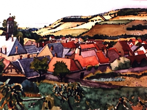 Rooftops in Southwest France