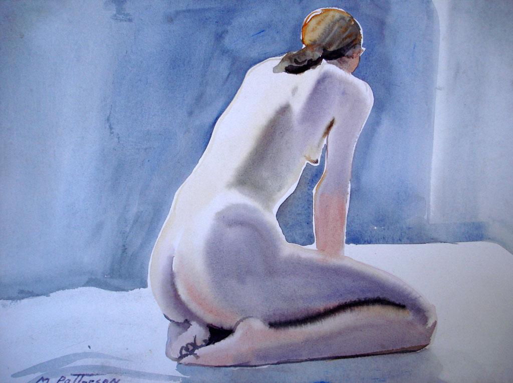 Woman Kneeling, Side View