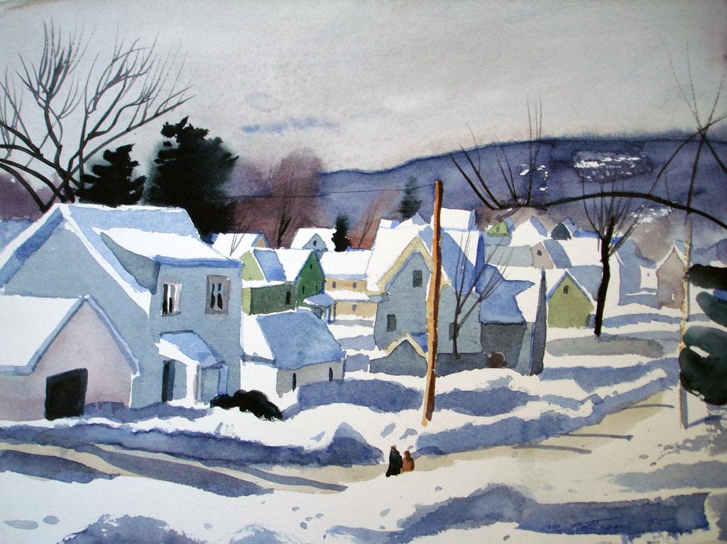 Peekskill Snow on the Rooftops