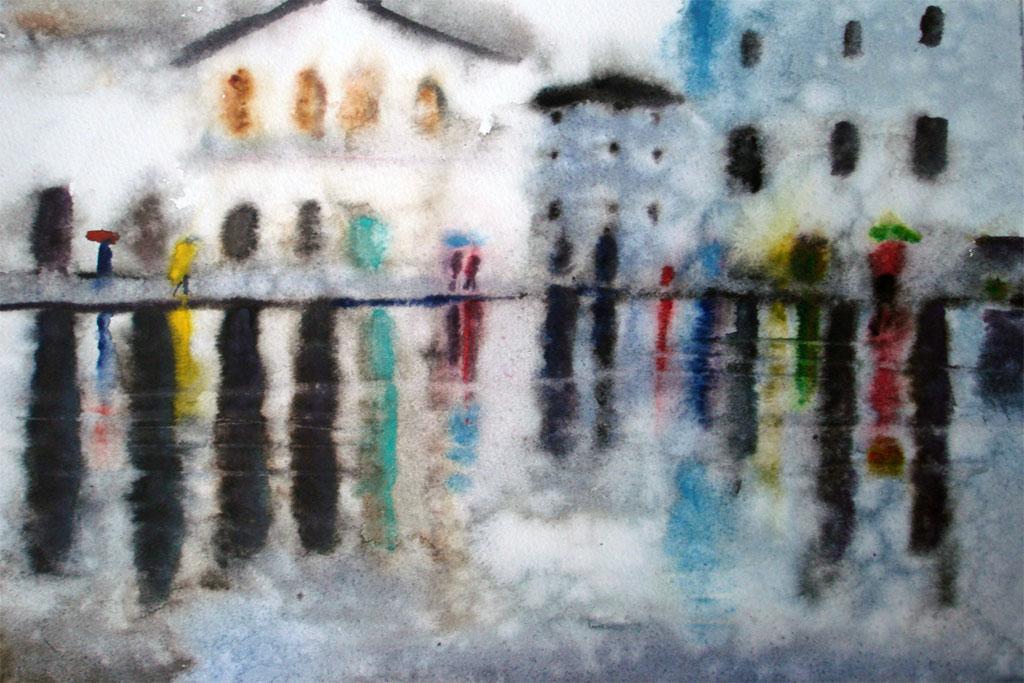 Plaza Rain
