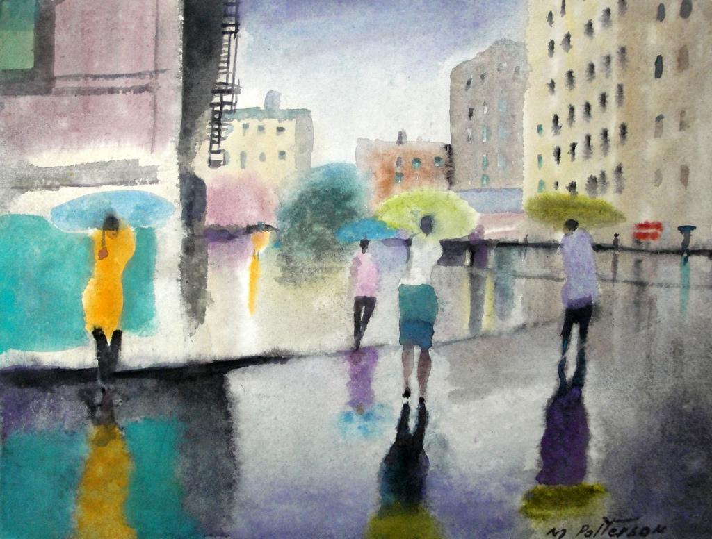 Pastel Rain, NYC